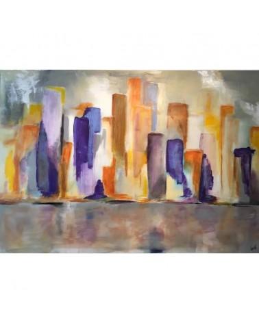 Skyline tableau art contemporain de Gwen Paintings