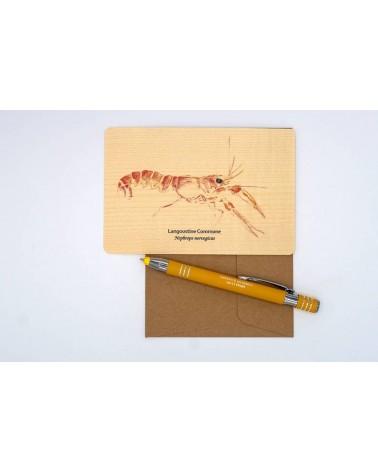 Langoustine_Atelier Assis_carte postale