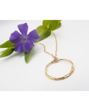 Amour : Collier doré à l'or fin