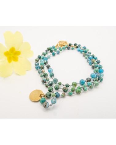 bracelet Isabelle Poisot en turquoises et amazonites